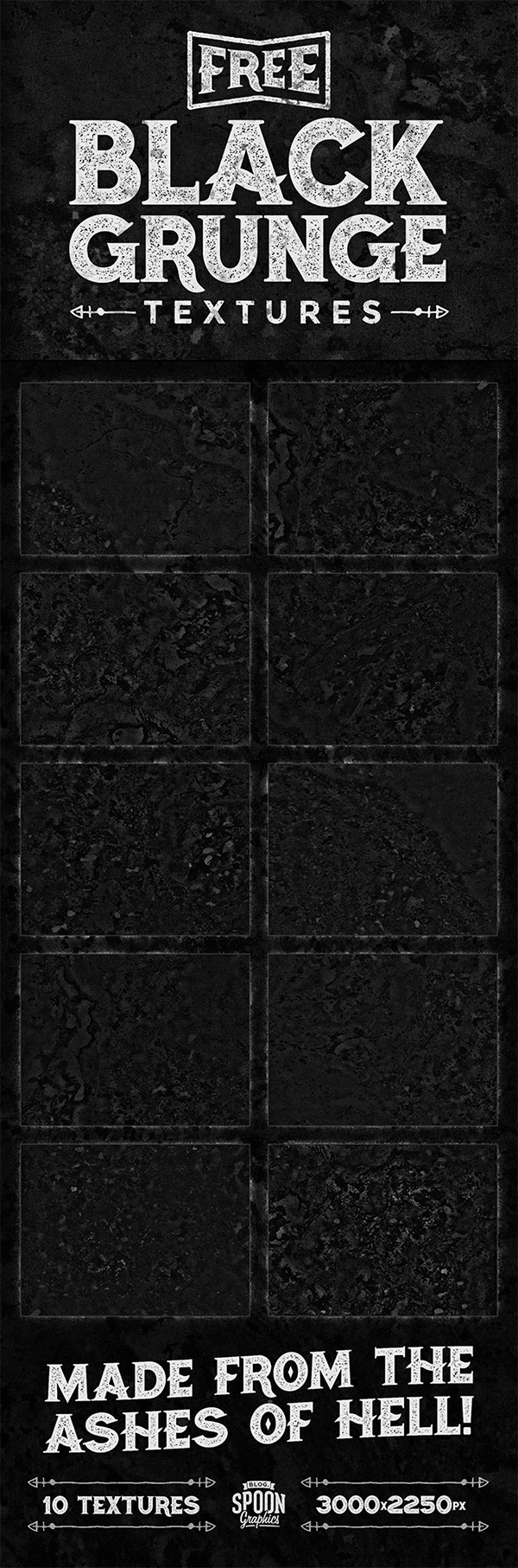 10 Free Black Grunge Textures Made From The Ashes of Hell