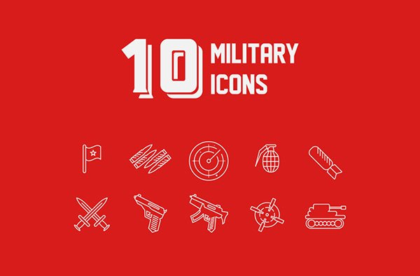 10 Free MILITARY ICONS