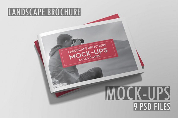 Landscape Brochure Mockups - 8 Files