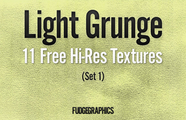11 Free Hi-Res Light Grunge Textures (Set 1)