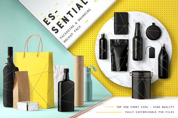 Essential Packaging Branding Mockup