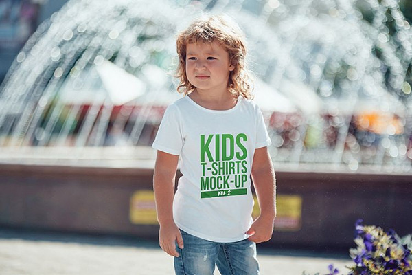 Kids T-Shirt Mock-Up Vol 2 - 7 Templates