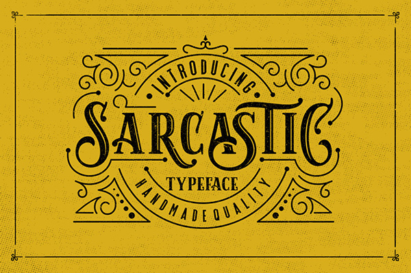 Sarcastic Typeface + Extras