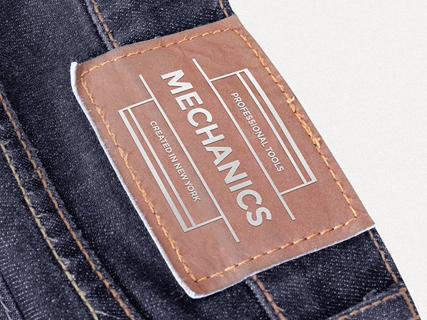 Leather Patch Mockup