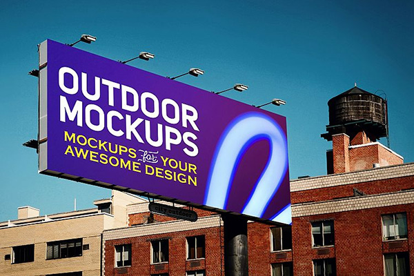 6 Outdoor Advertising Mockups