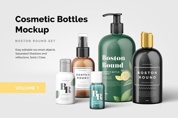 Cosmetic Bottles Mockup Vol.1