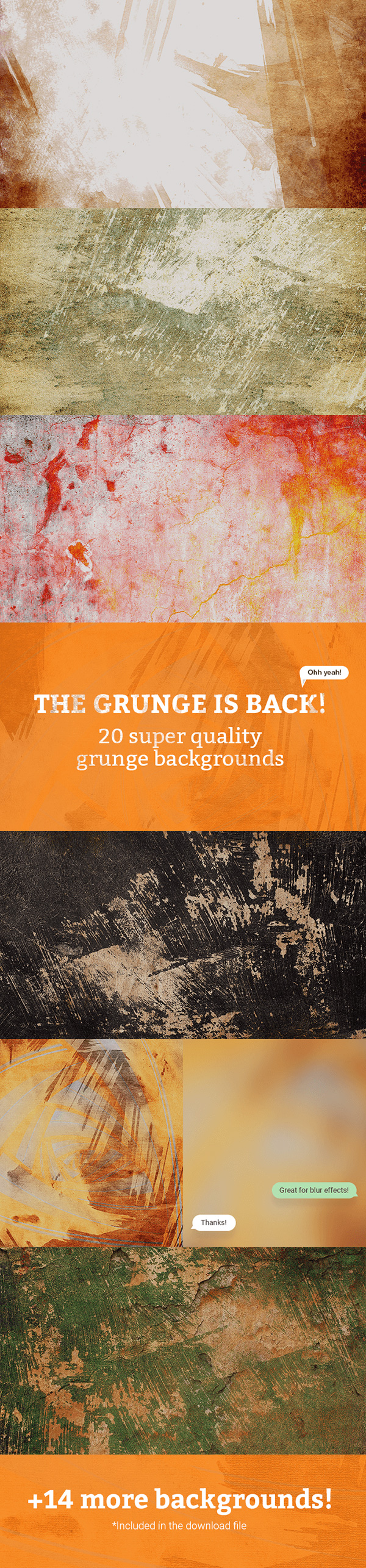 20 Free Grunge Backgrounds