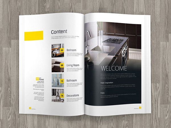 A4 Brochure Magazine Mock up