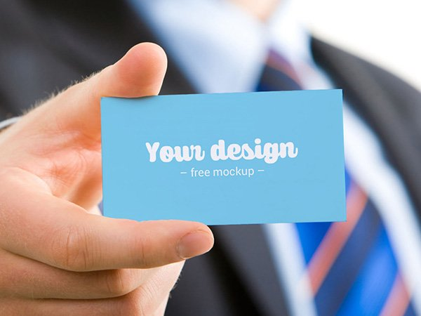 Business Card Free Mockup In Hand
