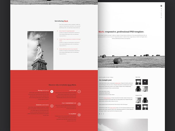 Mark PSD template