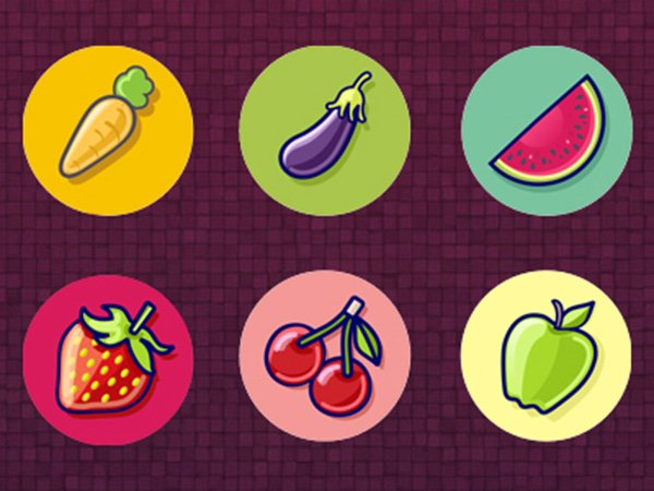 Free Fruits Vector Icons