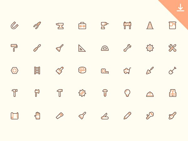 40 Tool Icons