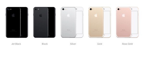 iPhone 7 Mockups - All Colors