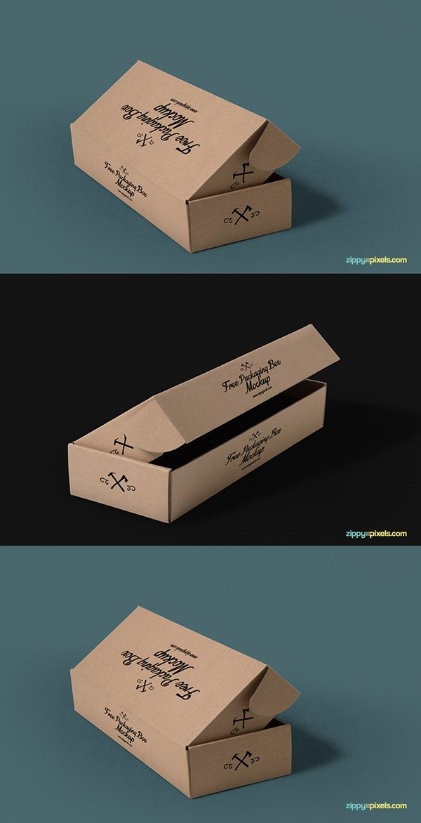 3 Free Packaging Mockups With Customizable Backgrounds