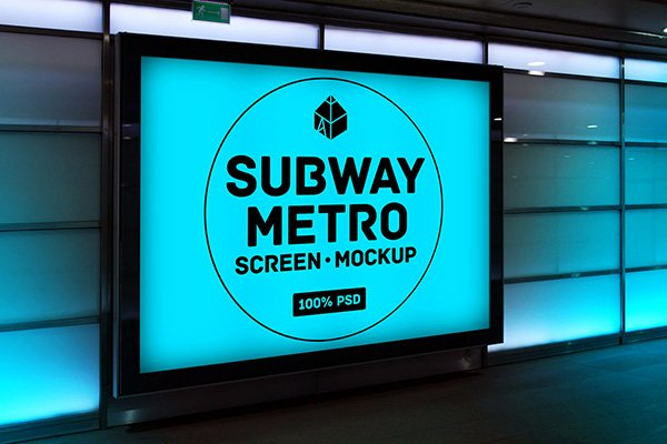 Subway Metro Screen Mockup