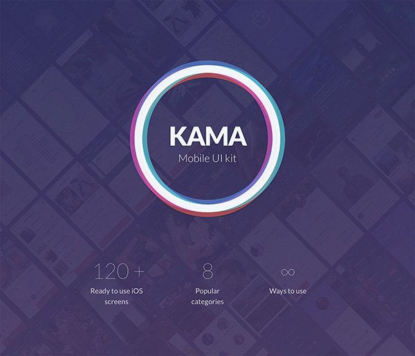Kama - iOS UI Kit (Sample)