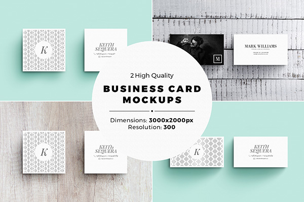 2 Business Card MockUps Set