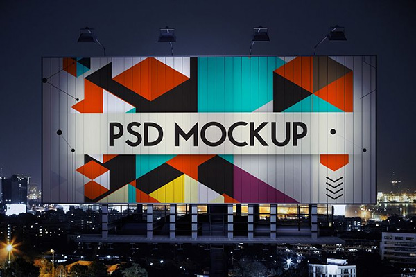 5 Outdoor Advertising Billboard Mockup