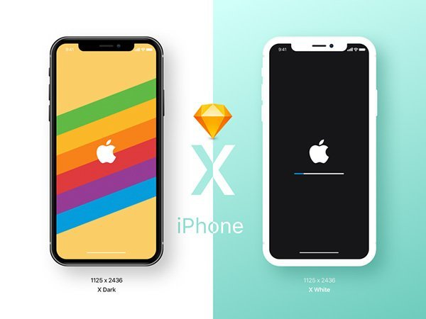iPhone X Sketch Mockup Freebie