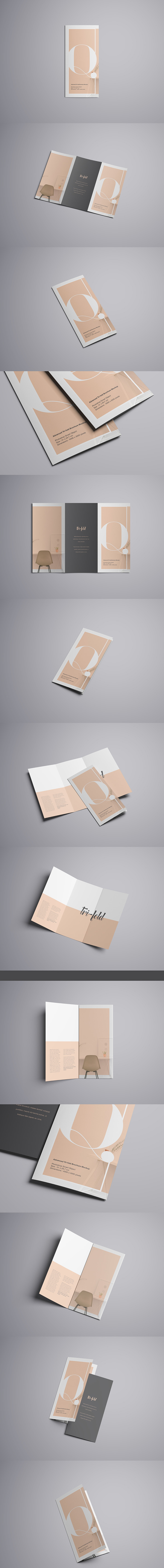 Advanced Tri-Fold Brochure Mockup (Free Version)