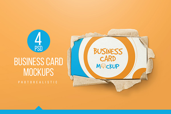 90x50 Business Card Mockups
