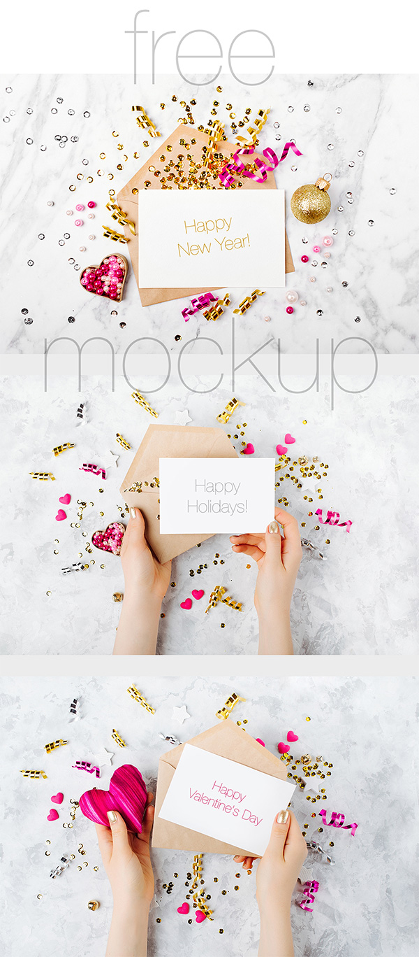 27 Invitation Greeting Card Postcard Mockups Free Premium