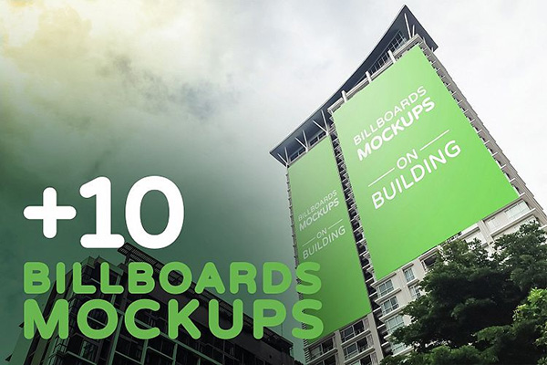 Billboards Mockup on Building Vol.1