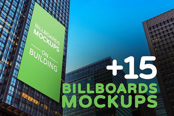 Billboards Mockup on Building Vol.2 - 15 Mockups
