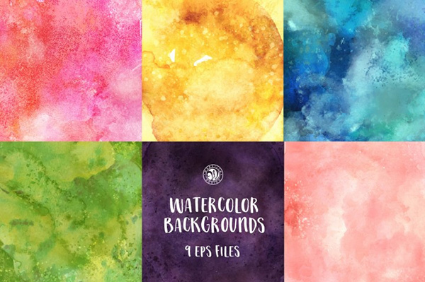9 Free Watercolor Backgrounds