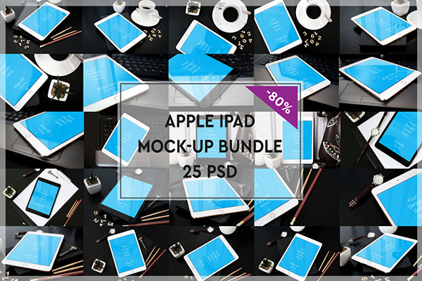 Apple iPad Mock-up Bundle #3