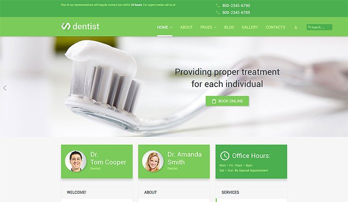 Dentist - Dental Clinic Joomla Template