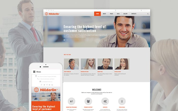 Holderlin - Business Bureau Joomla Template