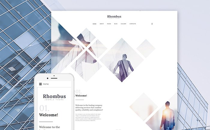 Rhombus - Corporate Website Joomla Template