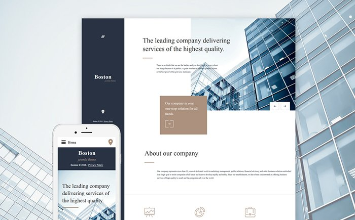 Boston - Business Joomla Template