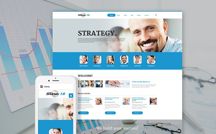 Stern 18 - Business Strategies Joomla Template