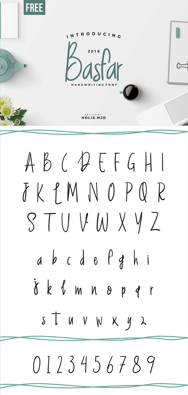 Basfar Handwriting Font