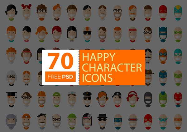 70 Free Happy Character Icons