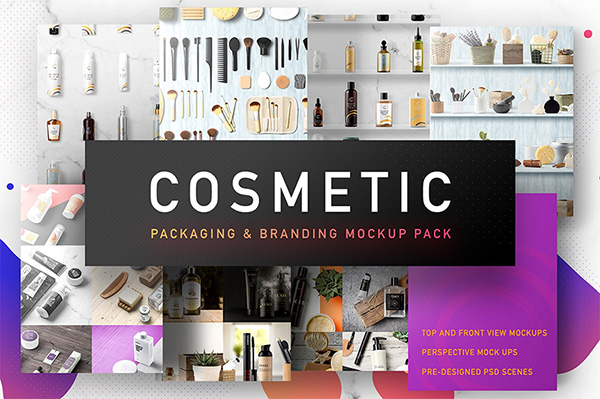 Cosmetic Packaging Branding MockUp