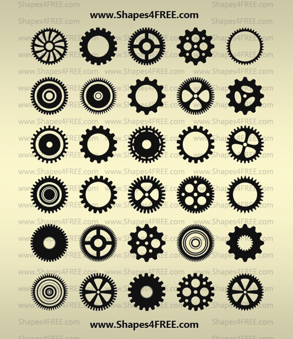 90 Gears PS Shapes