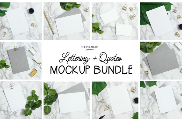 Quotes and Lettering Mock up Bundle