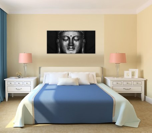 Black And White Abstract Buddha Head Painting