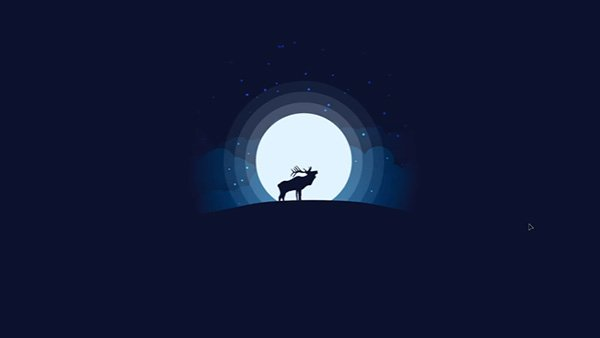 Animal Silhouette Moonlight Vector Illustration