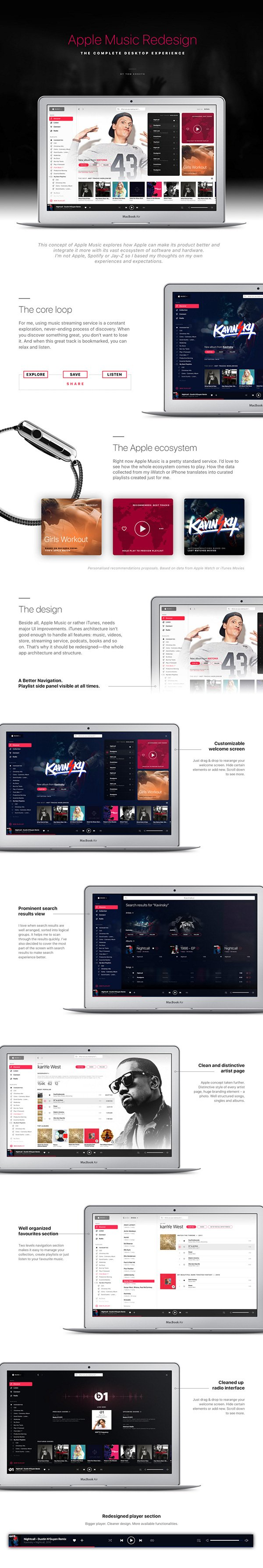 Apple Music Redesign Concept