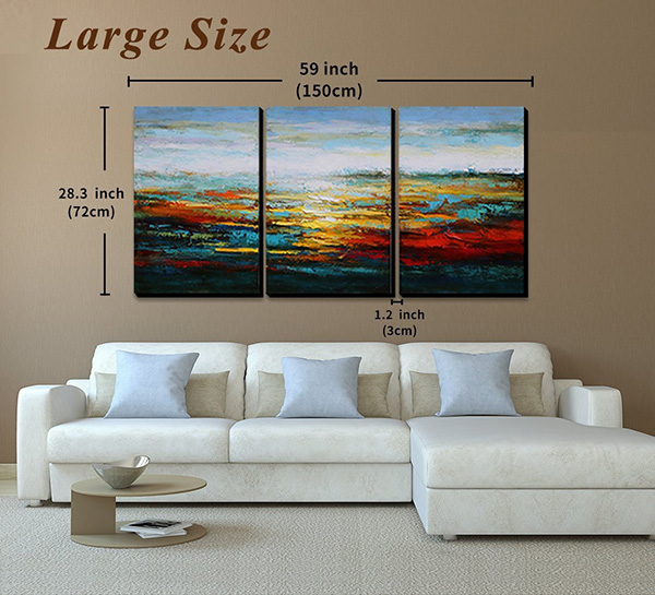 Abstract Landscape Painting - Canvas Wall Art