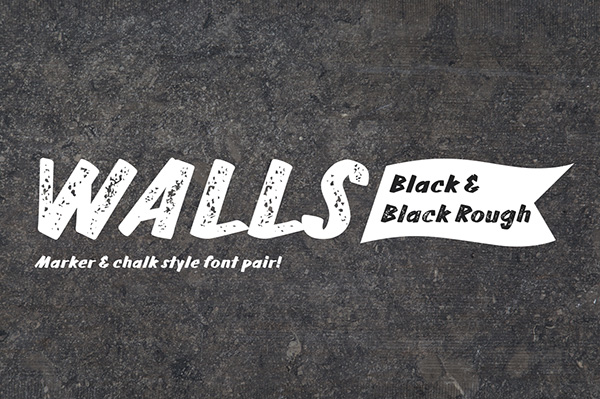Walls Black & Walls Rough Black