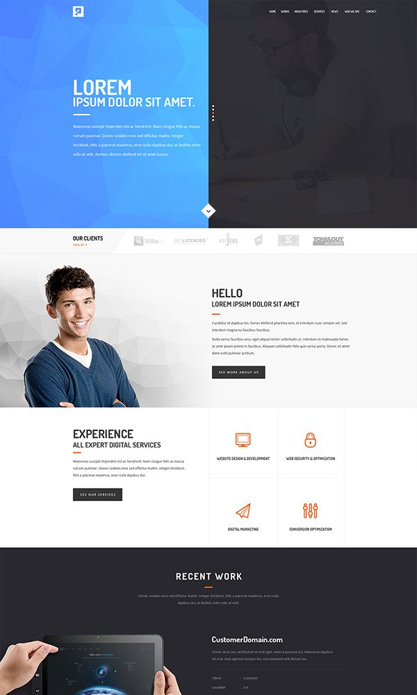 Creative Agency - Freebie PSD