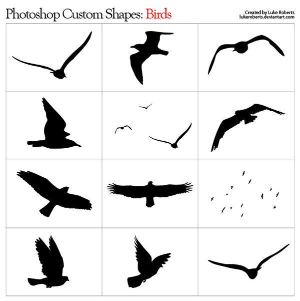 Birds Custom Shapes