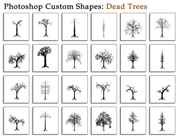 1001+ Free Photoshop Shapes (CSH)