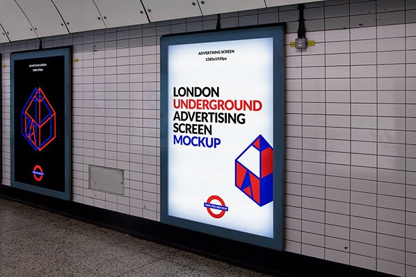 London Underground Ad Screen Mockup