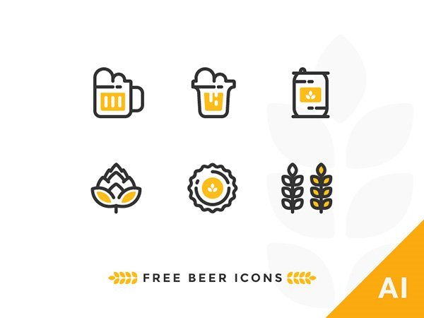 Outline Beer Icons